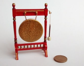 12th Scale Dolls House Gong Stand