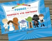 Star War Cuties Birthday Party Invitations and/or Thank You Notes