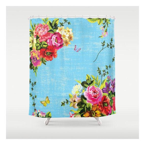 bright florals custom made shower curtains unique shower