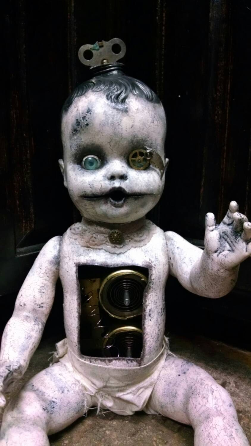 Tick Tock Creepy Steampunk Doll