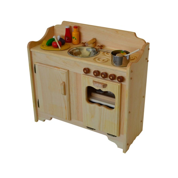 pretend play wooden play kitchen waldorf toy kitchen play