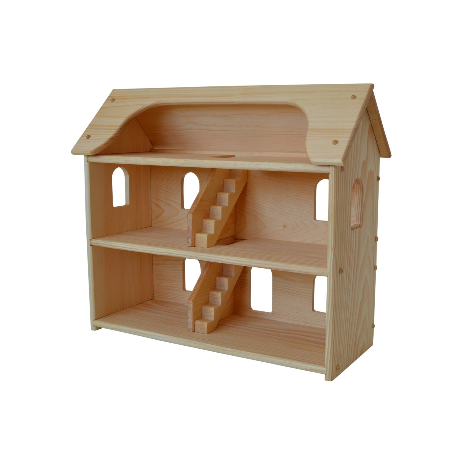 Handcrafted Natural Wooden Toy Dollhouse-Waldorf