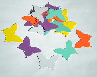 "25  Large Paper Butterfly die cuts,  ""Sugar candy"" colors, scrapbook embellishments"