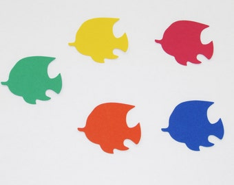 Fish die cuts/ Primary colors set / 25 pc set/paper fish die cuts