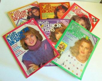 Destash Craft Magazine - McCall's Needlework & Crafts Magazine - Vintage Craft Magazines - Knitting Magazines - Vintage Needlework Magazines
