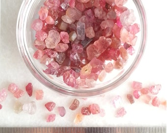 Spinel Crystals. Pink crystals. Natural. Loose. Raw. crystals for jewelry. Heart Chakra. Fairy crystals. Fairy Godmother. crystals for love