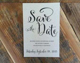 Save the Date, Whimsical Save-The-Date, Simple, Modern