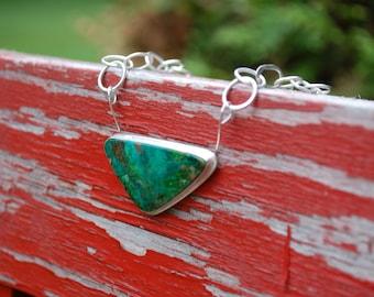 Vibrant Green Chrysocola Necklace