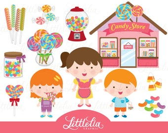 Candy shop clipart - Sweet candy clipart - 15039