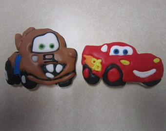 12 Cars Fan Art Hand Decorated Cookies