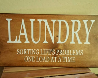 Laundry, sorting life's problems one load at a time