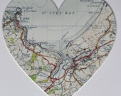 Personalised Vintage Ordnance Survey UK Map Picture
