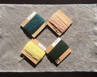 Plant Dyed Crewel Wool and Vintage Cotton Twill Kit