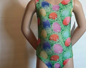 "Girls Sizes 2 to 12 - ""Eggtastic Surprise"" Gymnastics and Dance Leotard"