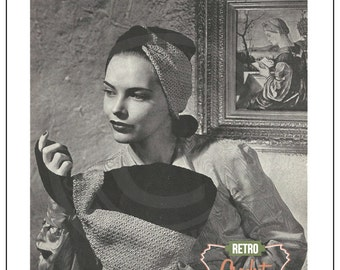 1940s Hats and Bags Crochet Pattern Booklet - PDF  Instant Download