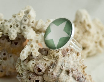 SUMMER SPECIAL adjustable ring image 20mm with star image