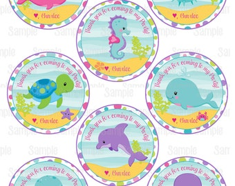 Printable Under The Sea Party Favor Tags