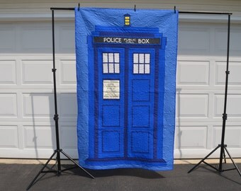 Dr. Who Tardis quilt