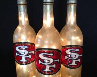 San Fransisco 49ers Wine Bottle Lamp