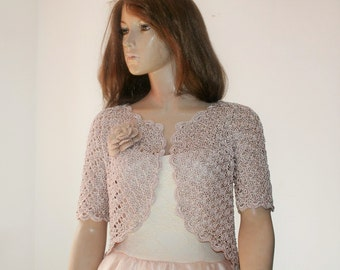 Weddings crochet bolero silk