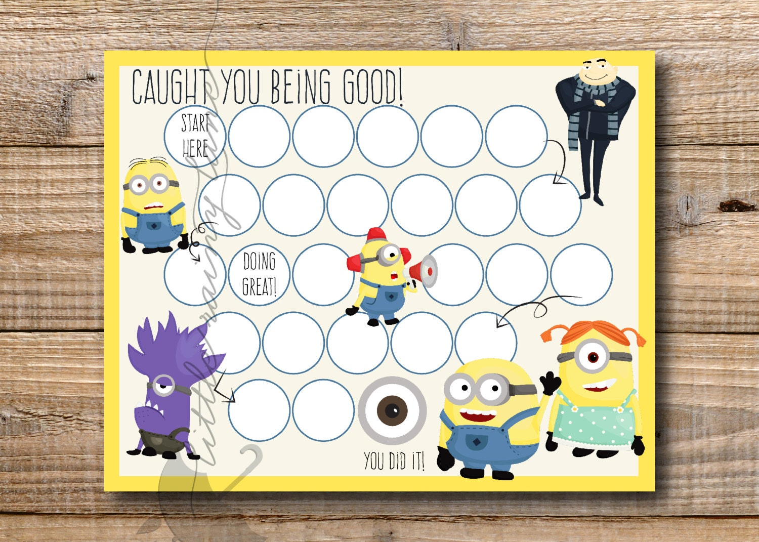 Kids Reward Chart Minions Reward Chart Printable Instant – Free Reward Charts to Download