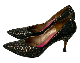 Vintage Schiaparelli Evening Shoes 1960s