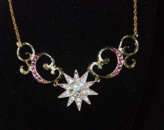 Pink Starburst Necklace