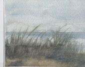 Empty beach, painting