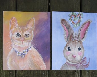 Original Art Prints - Cat or Rabbit