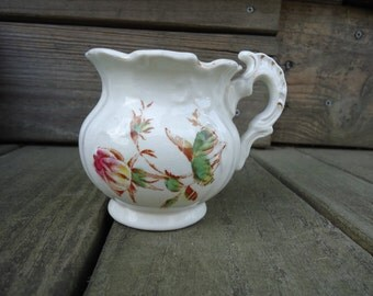 Vintage Rose Motif Creamer