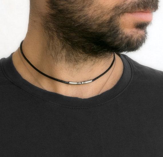 collier pour homme tour de cou collier cadeau en cuir. Black Bedroom Furniture Sets. Home Design Ideas