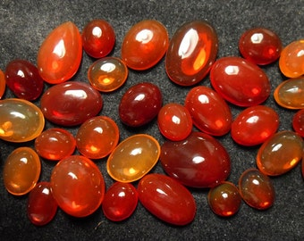 Special mexican red orange yellow fire opals lot (YOS034)