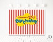 Unisex The Wiggles Boys Girls Logo Sweet Table Backdrop Poster Design / DIY Modern Printable Party & Birthday Decor - Digital File