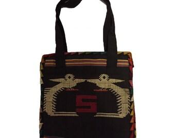 Large Double Bird Design Messenger Bag