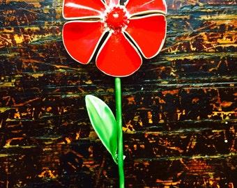 Sixties Poppy Flower Pin
