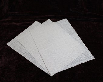 White Laminated Burlap Printable Sheets for Your Inkjet Printer