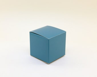 Turquoise Favor box, Small favor boxes, 3x3x3, turquoise wedding favor boxes, treat boxes, goodie bag, candy buffet box, turquoise party box