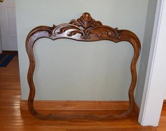Antique Oak  Mirror Frame