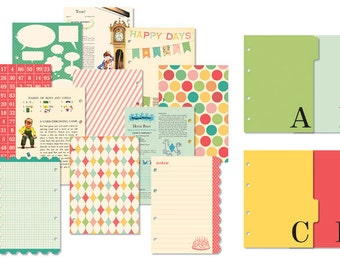 October Afternoon Cakewalk Collection Here and Now Chapters, Page Dividers, Scrapbook Paper