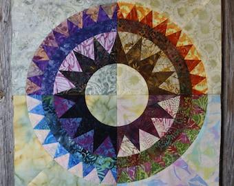 New York Beauty Quilt Block Paper Piecing Pattern - Block M