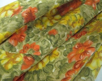 """Mod Round Tablecloth Floral Orange Tablecloth 70"""""""