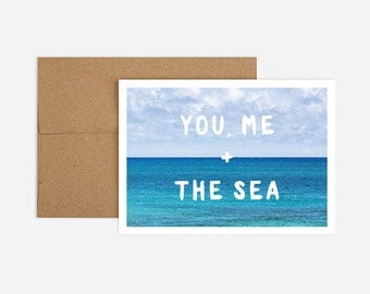 You, Me + the Sea Blank Greeting Card