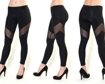 Mesh leggings Antiope Leggings with Mesh Arrow Inserts
