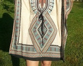 Tribal Tunic, Caftan, Rayon Kaftan, Beach Wear, Resort wear, Lounge wear, Beach Cover Up, One Size, Beach Fashion, Women Fashion