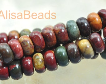 Red Turquoise,smooth rondelle,beads,2x4mm,beads,15 inches