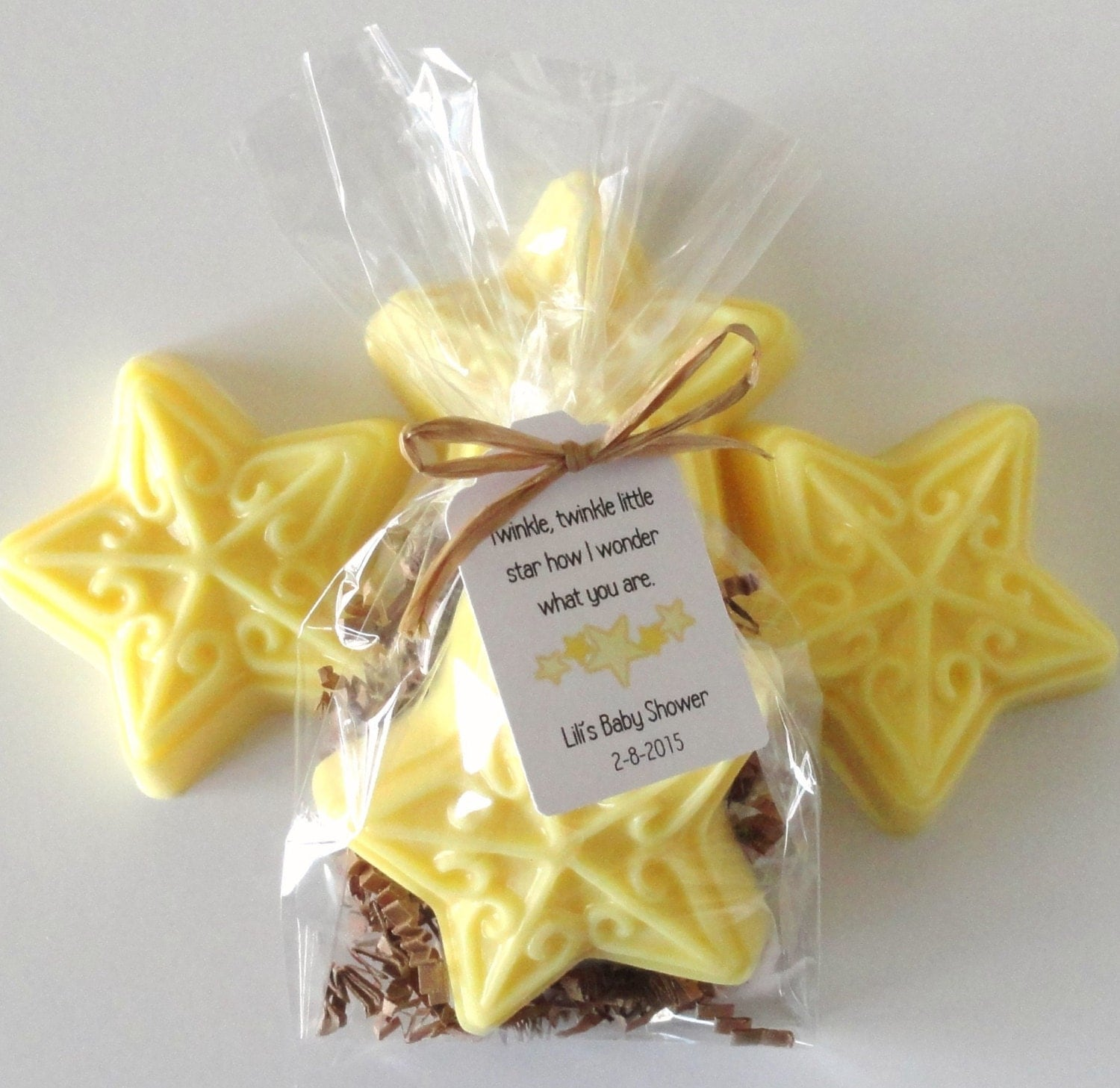 Star Soap Baby Shower Favors With Custom Tags By