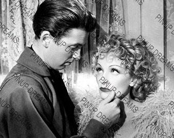 "Photo Wall Art Print of James Stewart & Marlene Dietrich, Vintage Classic Movie Star size A4 (11.7"" x 8.3"")"