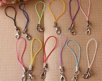 DIY jewelry -50 pcs antique silver lobster claw clasp lanyard charm pendant