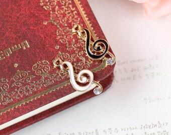 10 pcs of antique gold musical notes charm pendants 11x22mm