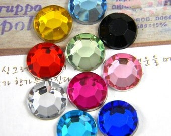 150pcs 6mm multicolour acrylic Cabochon Cover Cabs Charm Findings circular acrylic glass pendant